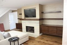 Wall units / storage, media, built ins
