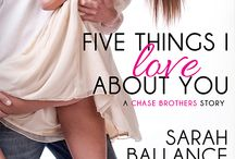 Five Things I Love About You (Chase Brothers) (Entangled Lovestruck) / A glimpse at the first book in the Chase Brothers contemporary romance series from Entangled Lovestruck.