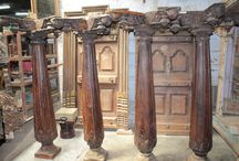 wooden pillars / old heritage wooden architectural pillar from south Indian