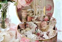 household pinks, creams and florals