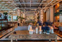 Decoración navideña de Restaurantes / Ideas para decorar restaurantes en Navidad, con ejemplos de restaurantes reales decorados para estas fechas