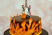 Gâteaux thème Musique - Music themed Cakes / Des gâteaux décorés pour les mélomanes: fans de rock, guitare, jazz, DJ, fêtes disco, piano, batterie...... Le choix est vaste!