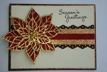 Christmas poinsettias cards  / by Sue Cartwright