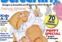 cross stitch magazines / by Janet Hindt