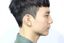 Man short haircut