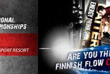 Kilpailut Competitions / Tuulitunneli- ja sisäsurf-kilpailukuvia Photos from indoor skydiving and surf competitions