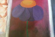 Lukisan / Dgn melukis menghilangakan setres menengkan hati galau menjadi berbunga-bunga