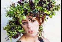 Botanical Couture - headpieces / variety of botanical headpieces that I have made since 2011