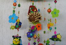 Mobiles / Polymer clay handmade mobiles made by me