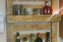 Wein Regal aus Paletten