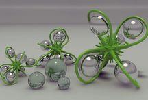 Üveggolyók-gömbök