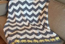 Elephant baby chrochet blanket