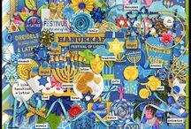 Hanukkah Digital Scrapbooking Kits