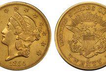 US Coins / V současné době je americký dolar uznáván a ceněn po celém světě. Jeho současnému silnému postavení však předcházel skromný vznik.  Na výstavě Flowing Hair v pražské Nové budově Národního muzea budou mít návštěvníci jedinečnou příležitost vidět sbírku vzácných zlatých a stříbrných amerických mincí. #flowinghair1794 #mostexpensivecoin #narodnipokladnice #narodnimuzeum #prague #numismatics #coincollecting #dollar #history