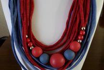 Yarn necklaces