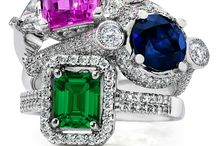 My Faux Diamond Gemstone Rings / Beautiful faux gemstone rings found at www.myfauxdiamond.com