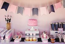 Navy and Pink Party