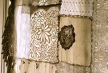 Lace , Linens & fabric / by Crow's Primitives