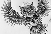 Owl&Skull tattoos