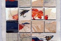 Grids and Squares / art, painting, collages, inspirations in grids