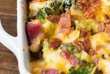 Cheese bacon ham casserole