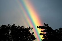 Just rainbow promises / Love rainbows. They make me smile, even though the promise is rarely delivered.