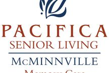 Pacifica Senior Living McMinnville / Welcome to Pacifica Senior Living McMinnville, our beautiful, safe and friendly community of quality caregivers, well-trained professionals, and most importantly, satisfied residents. our community offers a full spectrum of assisted living and memory care services administered by a specifically trained, caring and experienced staff.