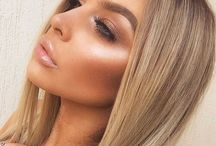 Glowing bronze makeup