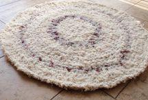 Háčkované koberečky z triček