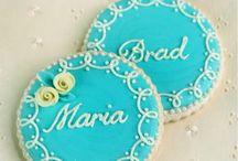 Wedding Cake Cookies / by Kris Rrbinson