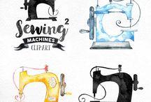 varrógép - painted sewing machine