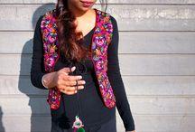 Ethnic Fashion / Ethnic street style or indo-western fusion fashion