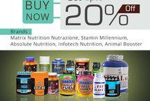 Upto 20% Off Health Supplement at Indiameds. / Find complete range of health supplement  ,whey proteins, Animal booster, Matrix Nutrition, BRIO, Ayurwin, Nutrazione, Stamina Millennium,Absolute Nutrition at Indiameds.in