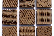 Corrugated cardboard.