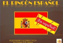 El Rincòn Español / Estáis todos invitados al RINCÓN ESPAÑOL, un encuentro dedicado al idioma y a la cultura española! LA LINGUA, LA MUSICA, LA POESIA, L'ARTE ED IL VIAGGIO. VI INTRODURREMO AL MONDO ISPANICO CON UNA CHIAVE DI LETTURA NUOVA, DIVERSA, INNOVATIVA PRESENTANDOVI IL NOSTRO CORSO DI SPAGNOLO E TUTTE LE ATTIVITA' CHE VI SONO CONNESSE. Orientamento, metodo, apprendimento ed insegnamento. I corsi si rivolgono a chiunque.  INGRESSO LIBERO