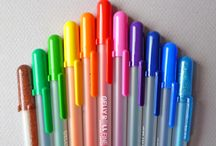 All of colorful pens