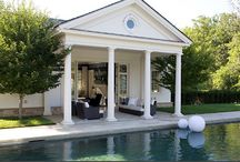Pool Houses- S.B. Long Interiors / Collection of Pool Houses designed by S.B. Long Interiors