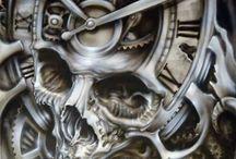 lebka a hodiny