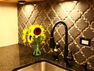 665 Powder Room Accent Wall / by Kelly Holm