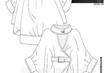 FLat Garment sketches