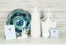 Ocean / Ocean is a collection of homeware featuring a palette of whites and blues.