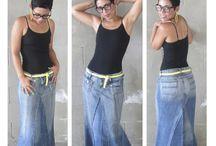 Jupes jeans