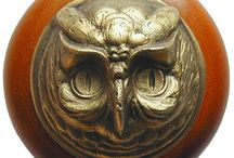 Ornate Owls / Owl decor is a hot trend, and Notting Hill Hardware has the perfect wood knobs to match in a variety of finishes.