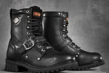 Harley Davidson's shoes and clothes.