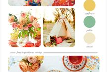 Color Combos & Trends / Don't be afraid of color.  Perhaps these combos will inspire your creativity.