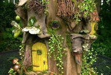 zahradní skřítci domky