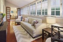 Sunroom renovation / Lotus breezeway above doorway, vaulted ceiling