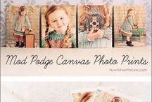Modge podge fotos