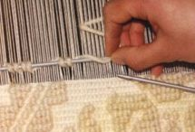 Hand Weaving - Pibiones / Details of Sardinian hand weaving