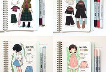 Agendas,dibujos,colors